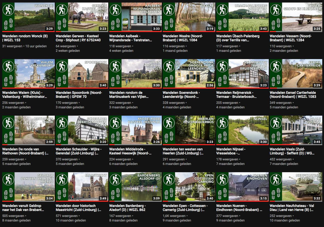 Overzicht van fotopresentaties op mijn YouTube kanaal.